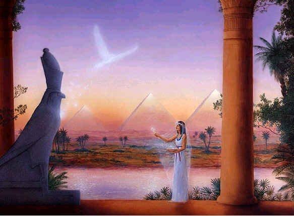 kjent kvinnelig statue egypt